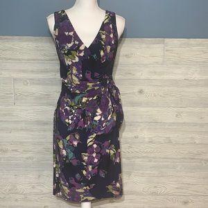 Beautiful floral faux wrap dress
